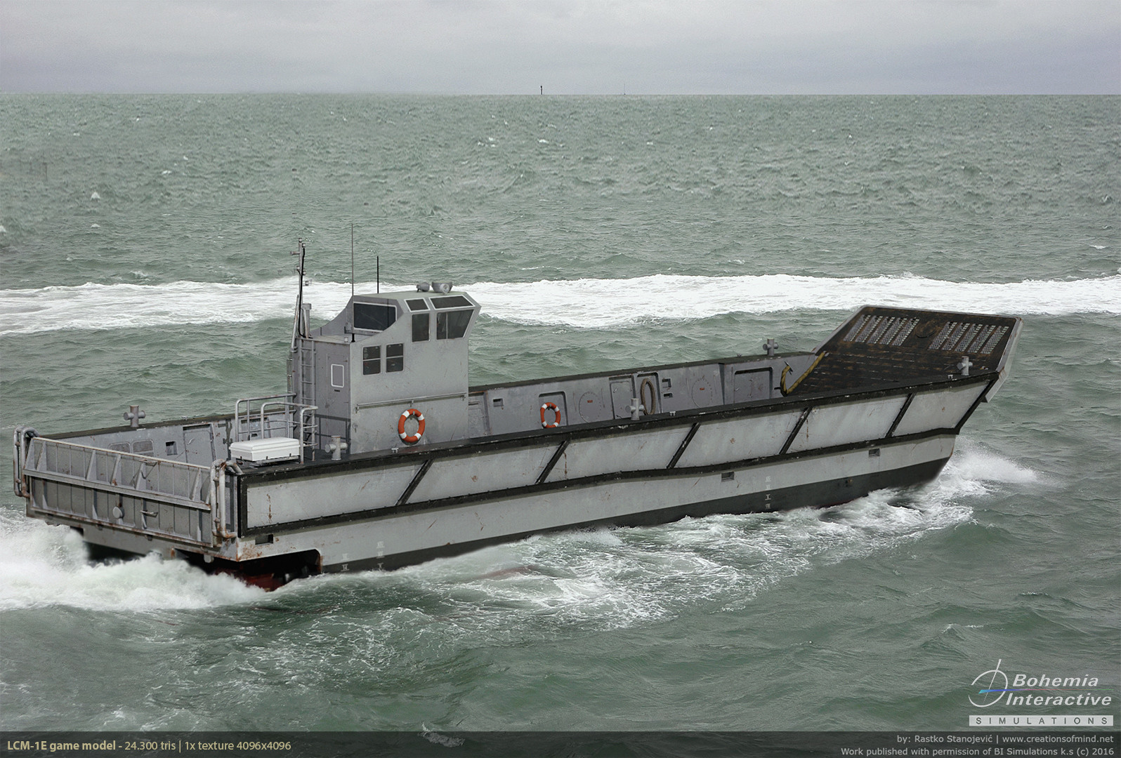 LCM-1e Landing Craft | Game model (real time render) composed into real life photo |