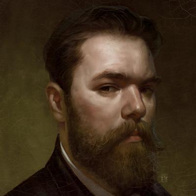 Antonio de luca portrait of alberto