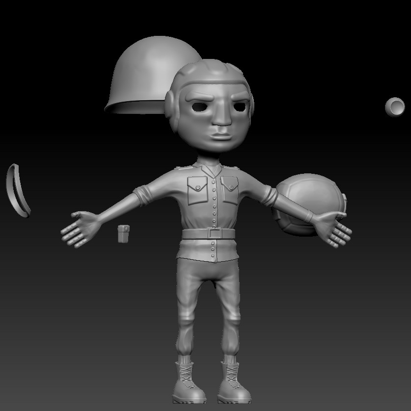 High-poly sculpt