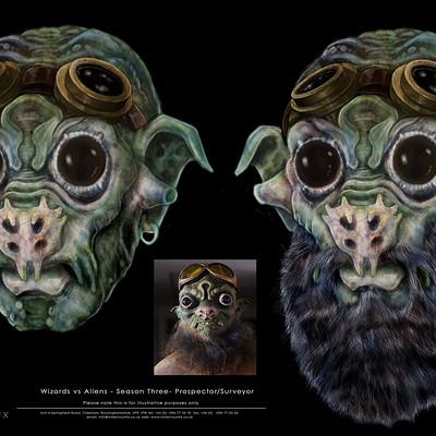 Christopher goodman wizards vs aliens prospector surveyor blue beard concept b
