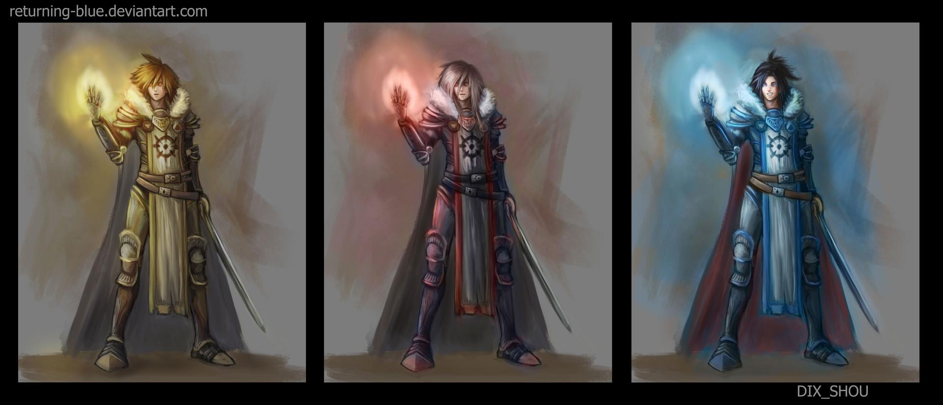 Dix shou magic knight colors