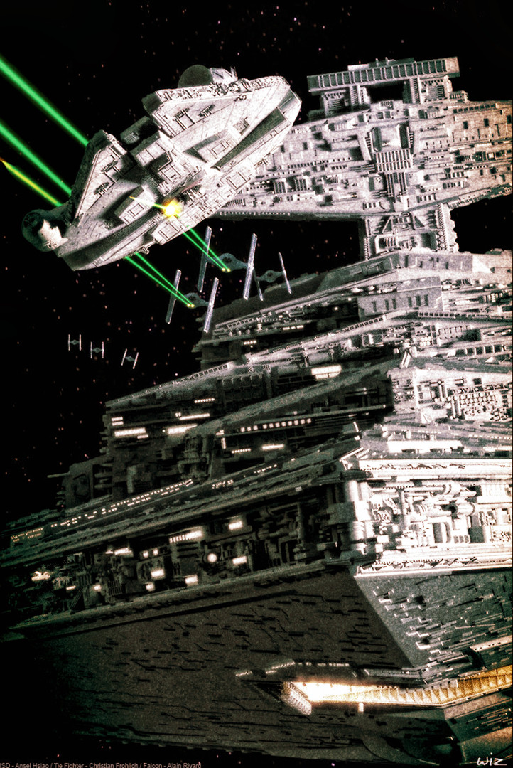 Paul wiz johnson stardestroyer poster recreation
