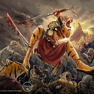 Santtos tiger cardgame santtos