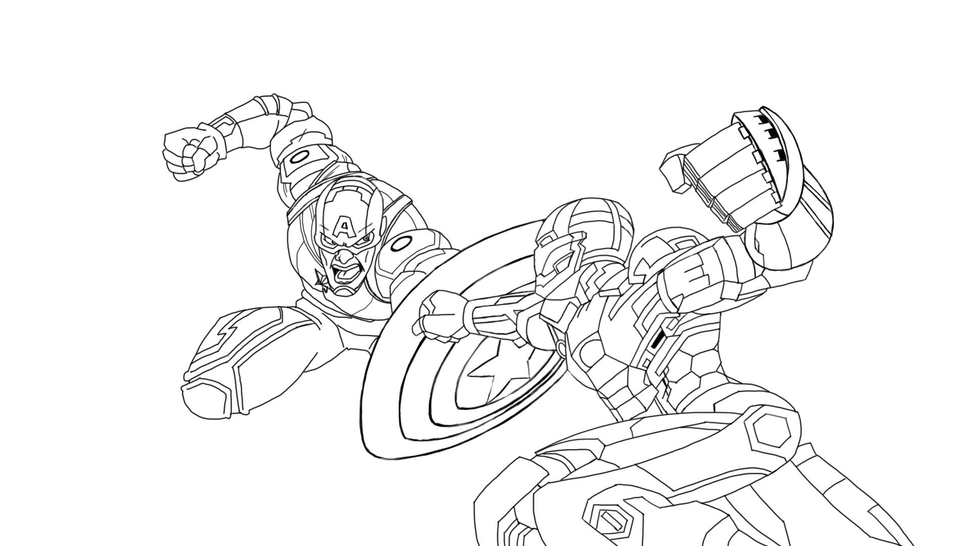 Artstation Drawing Iron Man Vs Captain America Part 2 Daily