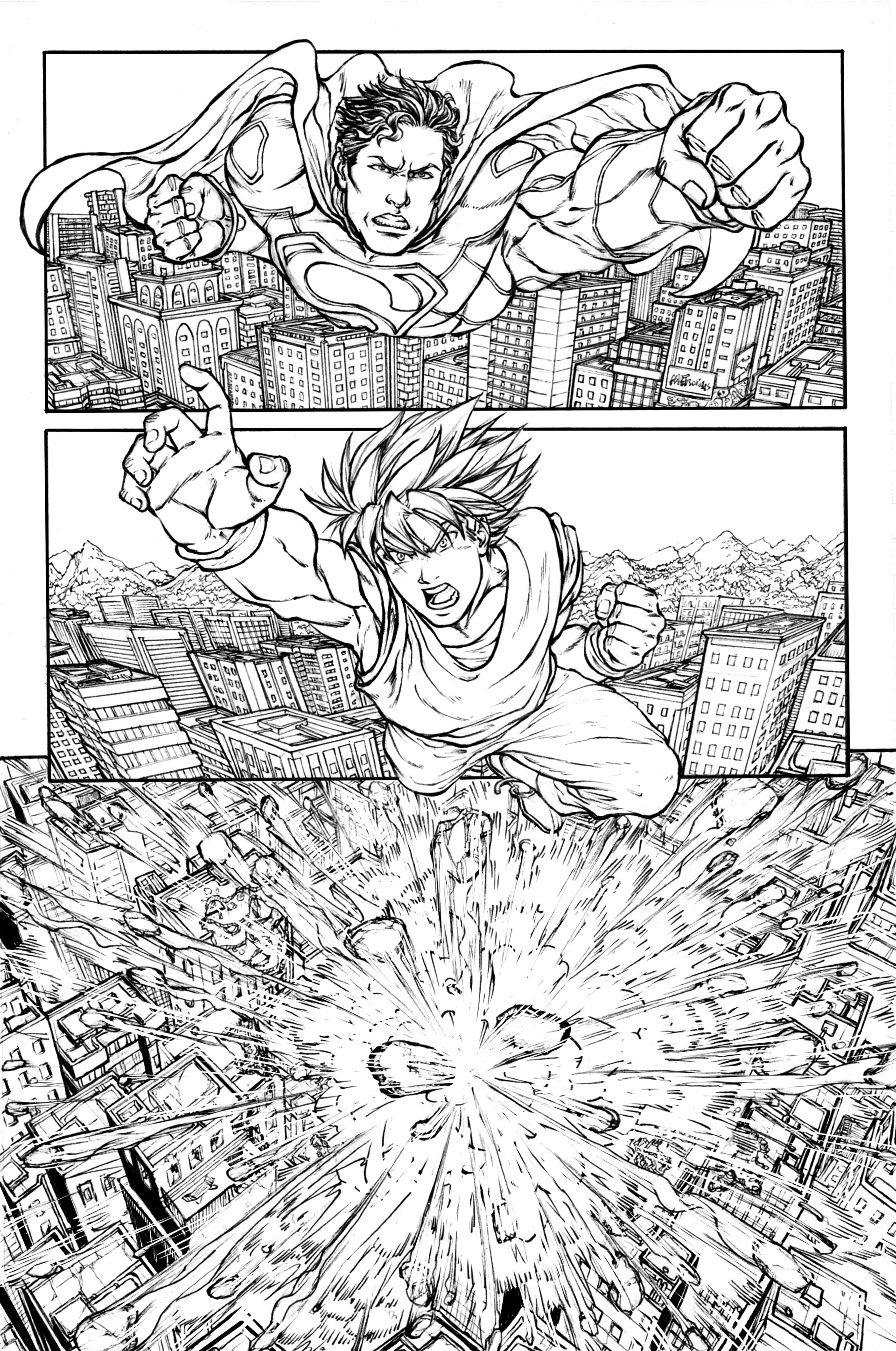 Gustavo melo superman vs goku