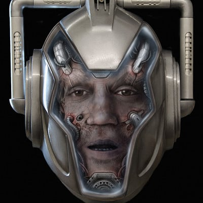 Christopher goodman cyberman cyber zombie danny face concept 2