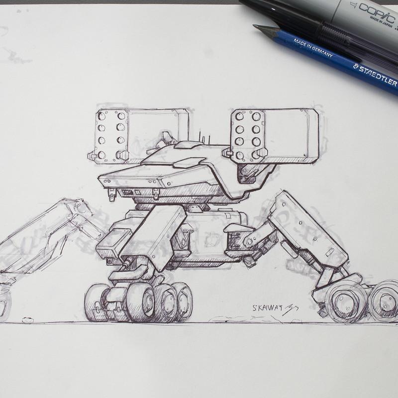 Quadlegged Missile Robot