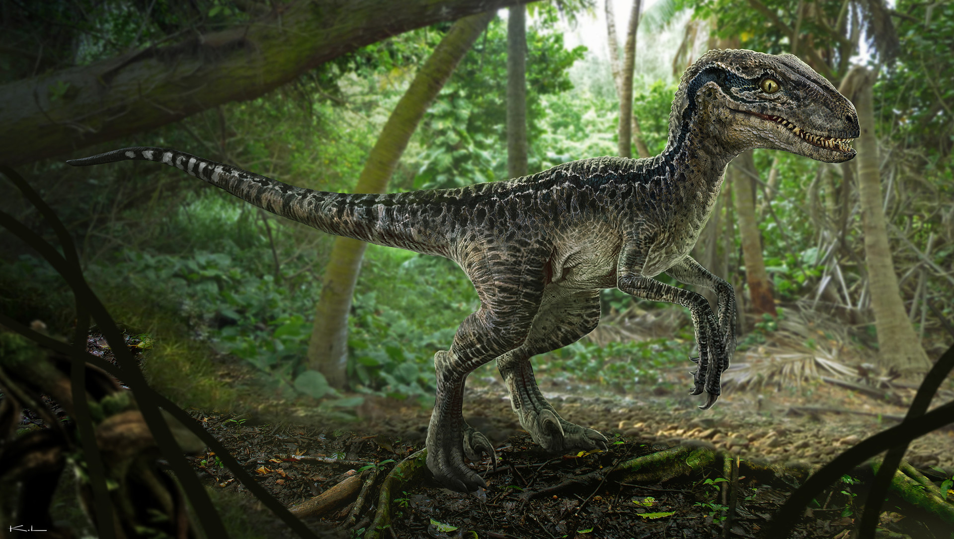 Karl lindberg jurasic world blue raptor fullbody