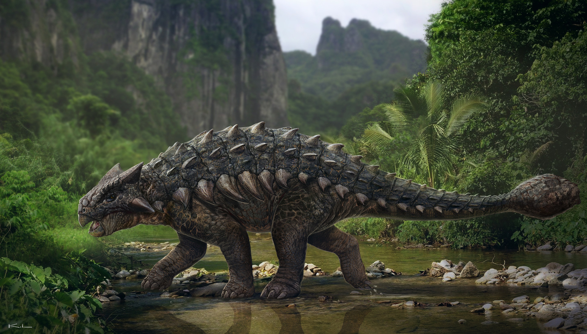 Karl lindberg jurassic world ankylosaurus