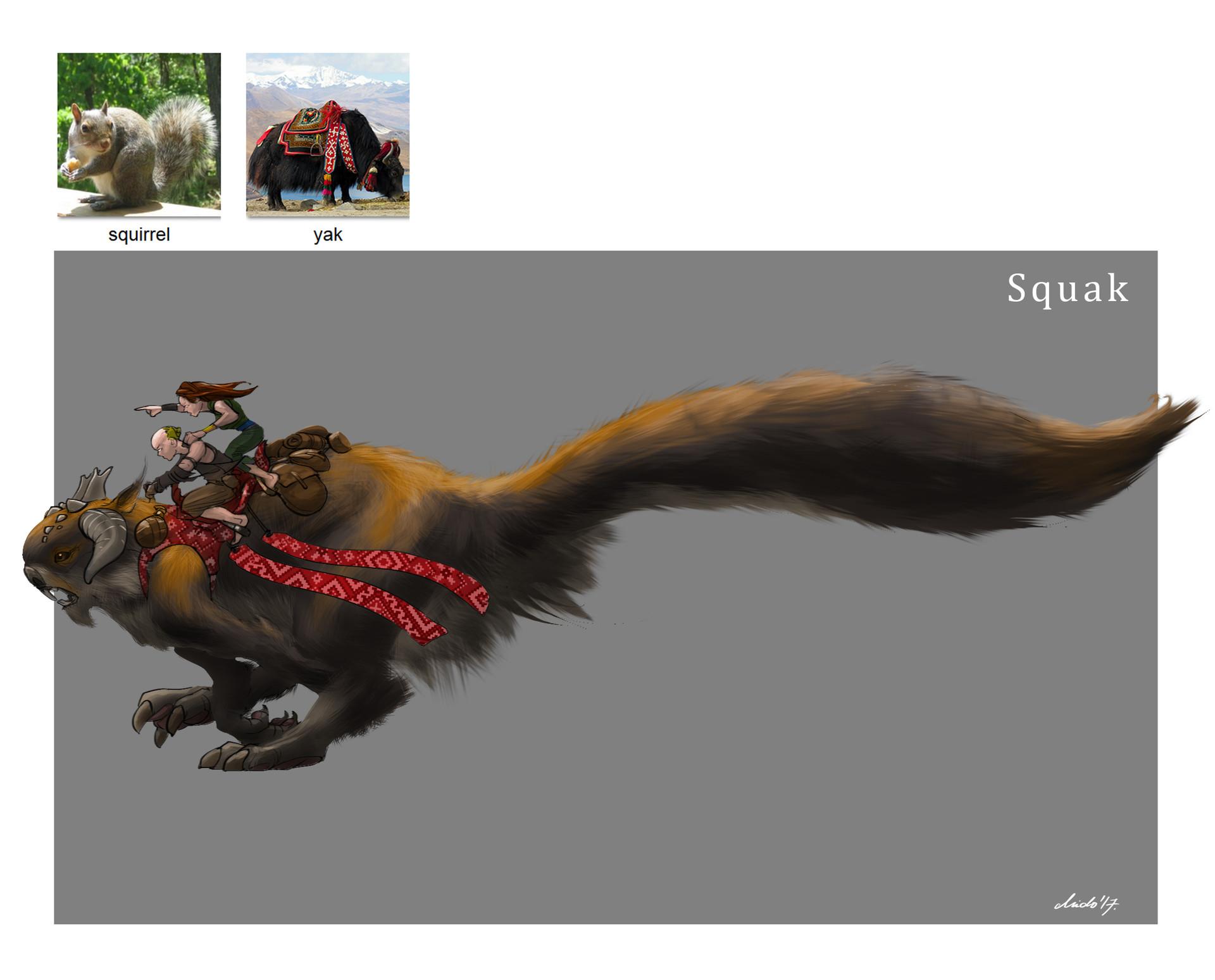 Midhat kapetanovic random creature mashup 020 squak