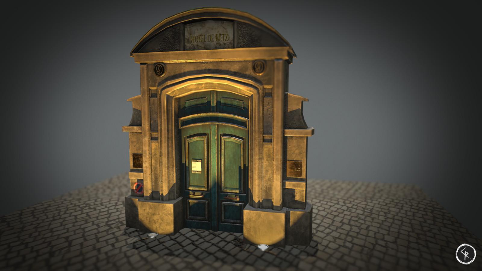 Baroque Gate, Hotel de Retz