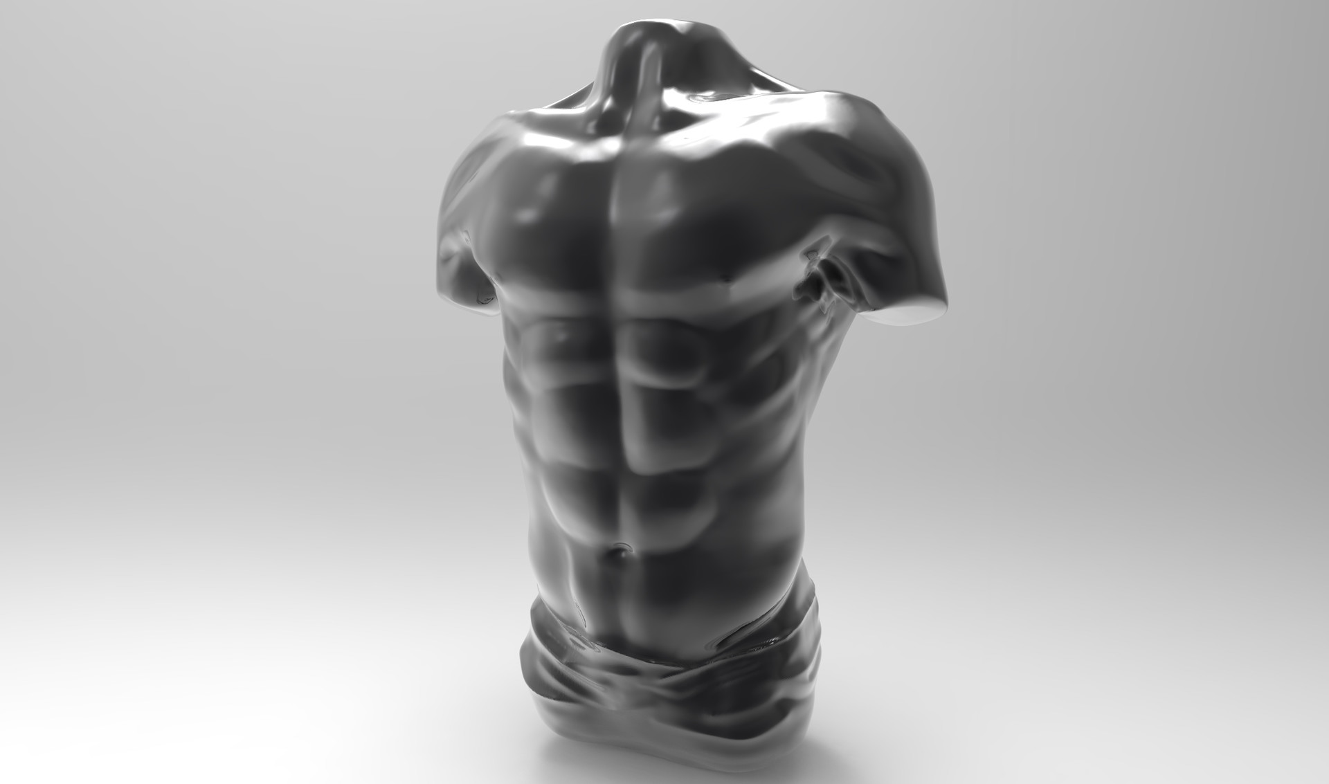 Bruno de maeyer male torso chrome black
