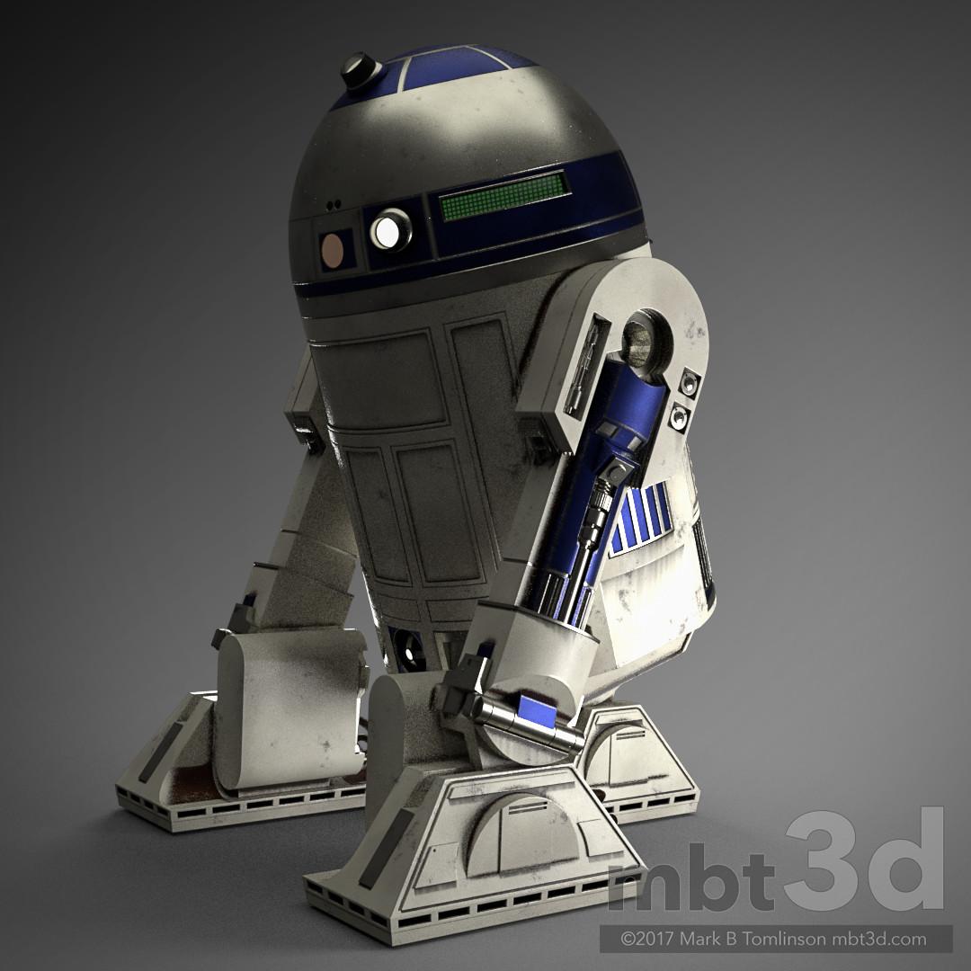 R2-D2 Droid Rear 3/4