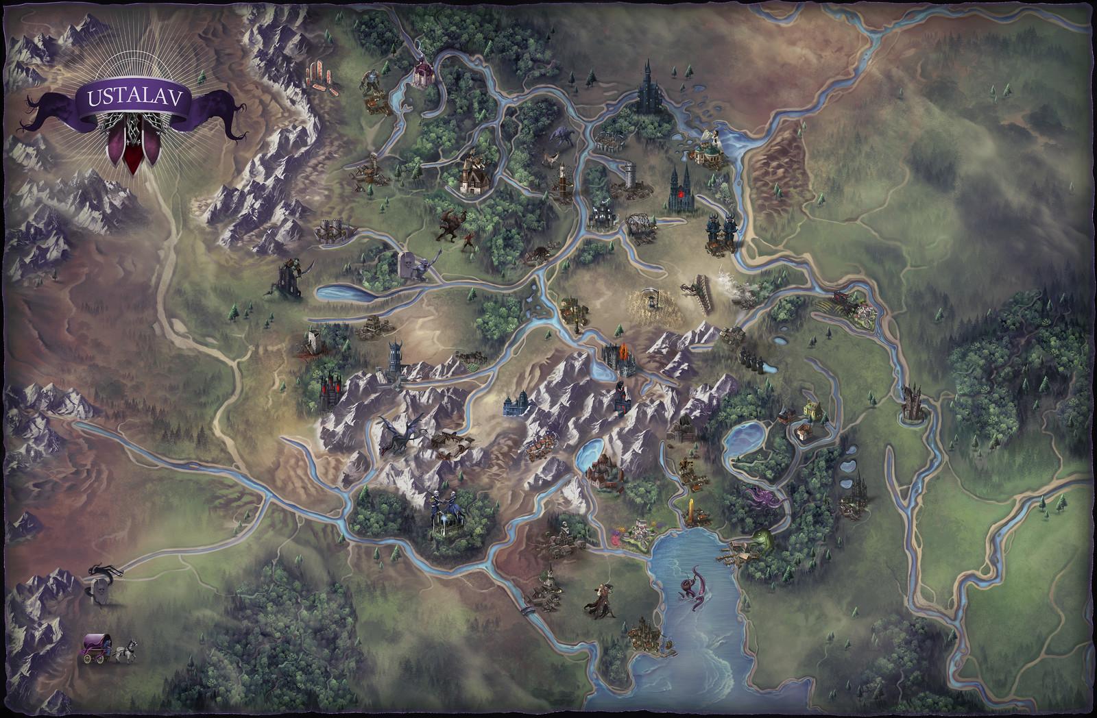 Ustalav Map