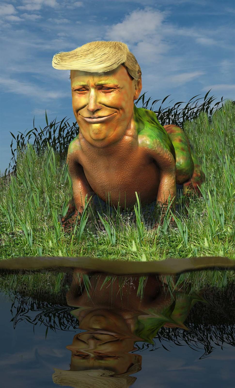 Trump at pond