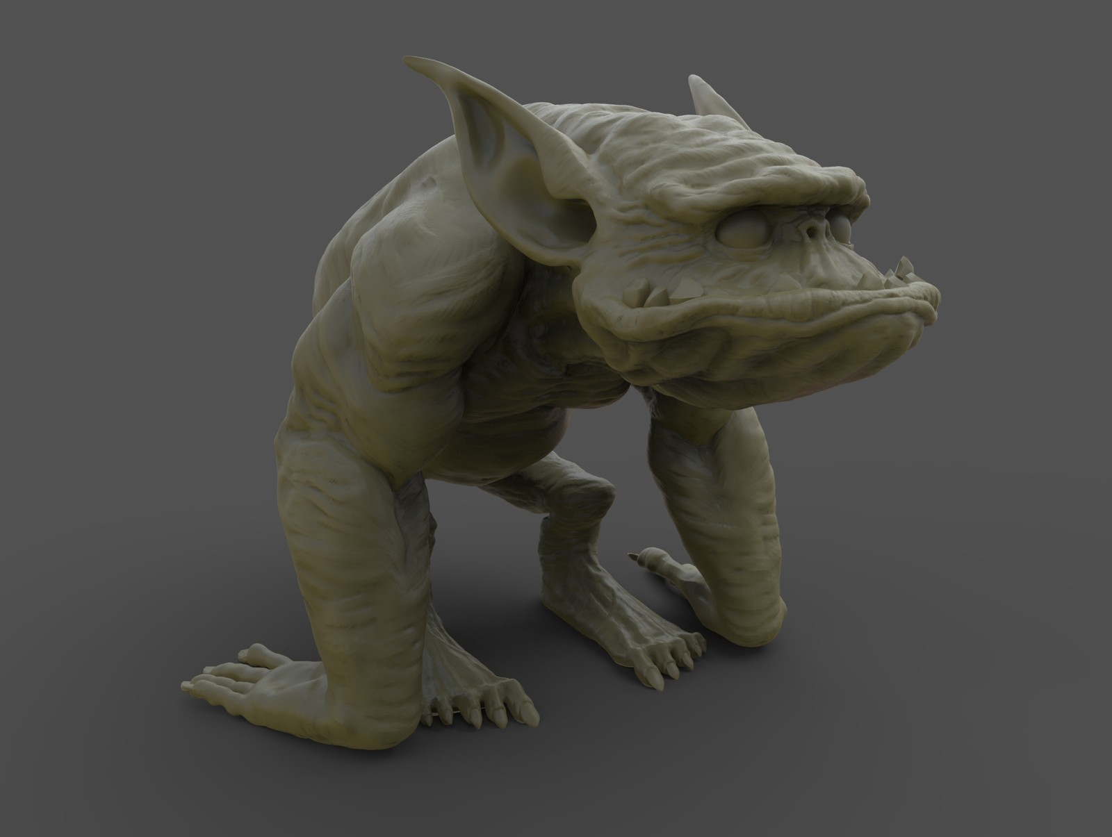 Keyshot render of the monster model.