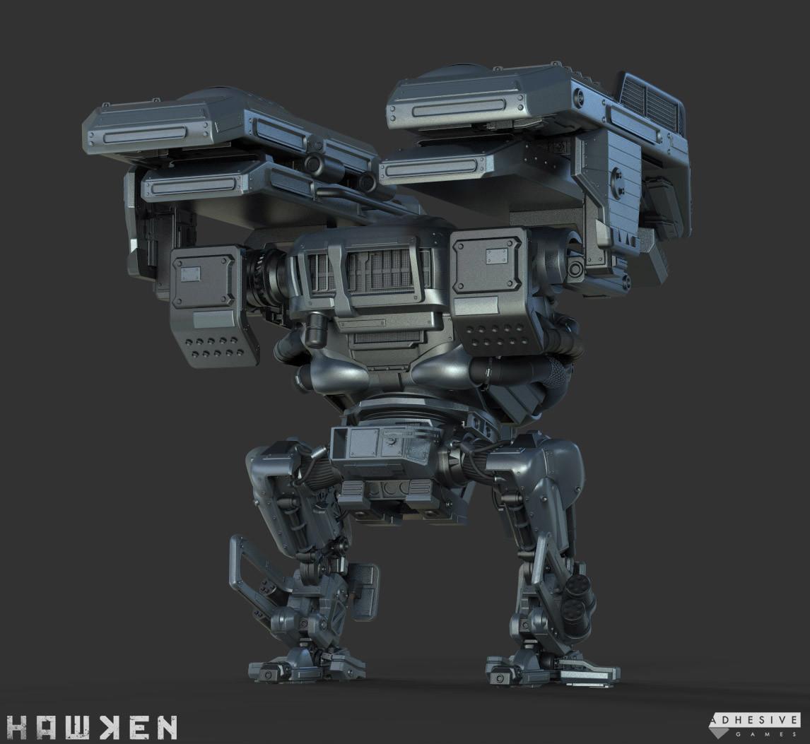 ArtStation - HAWKEN: Vanguard Mech - Cupcake Chassis