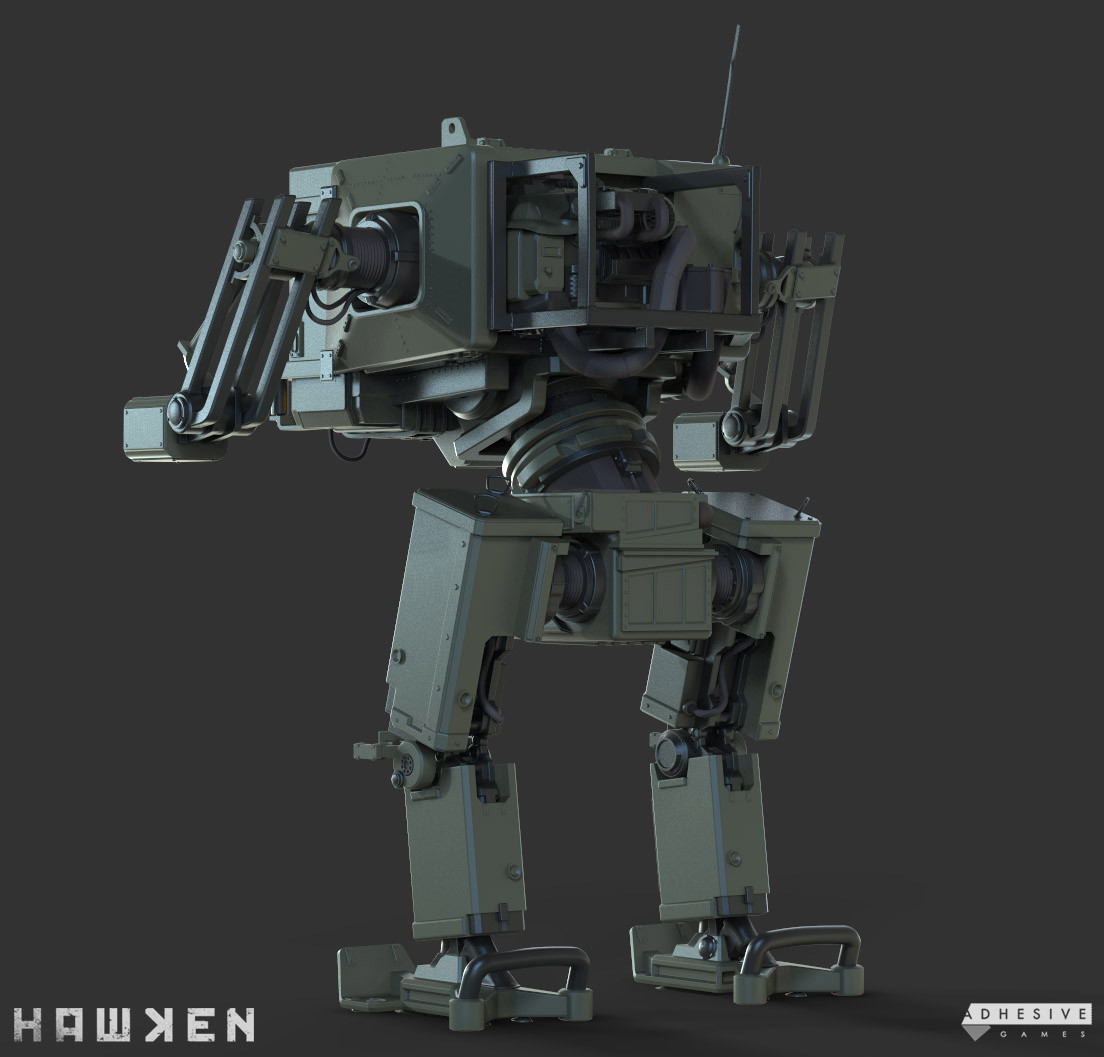 ArtStation - HAWKEN: C-RT Recruit Mech - Fred Chassis, Cameron Kerby