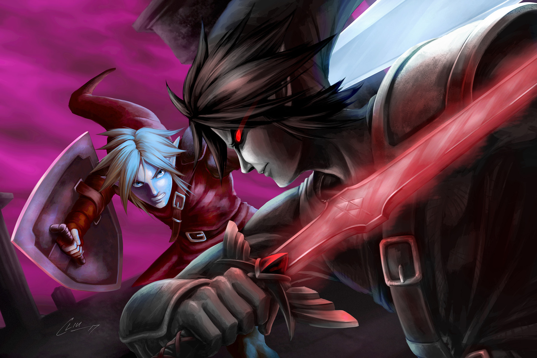 link vs dark link my submission for the dark horse