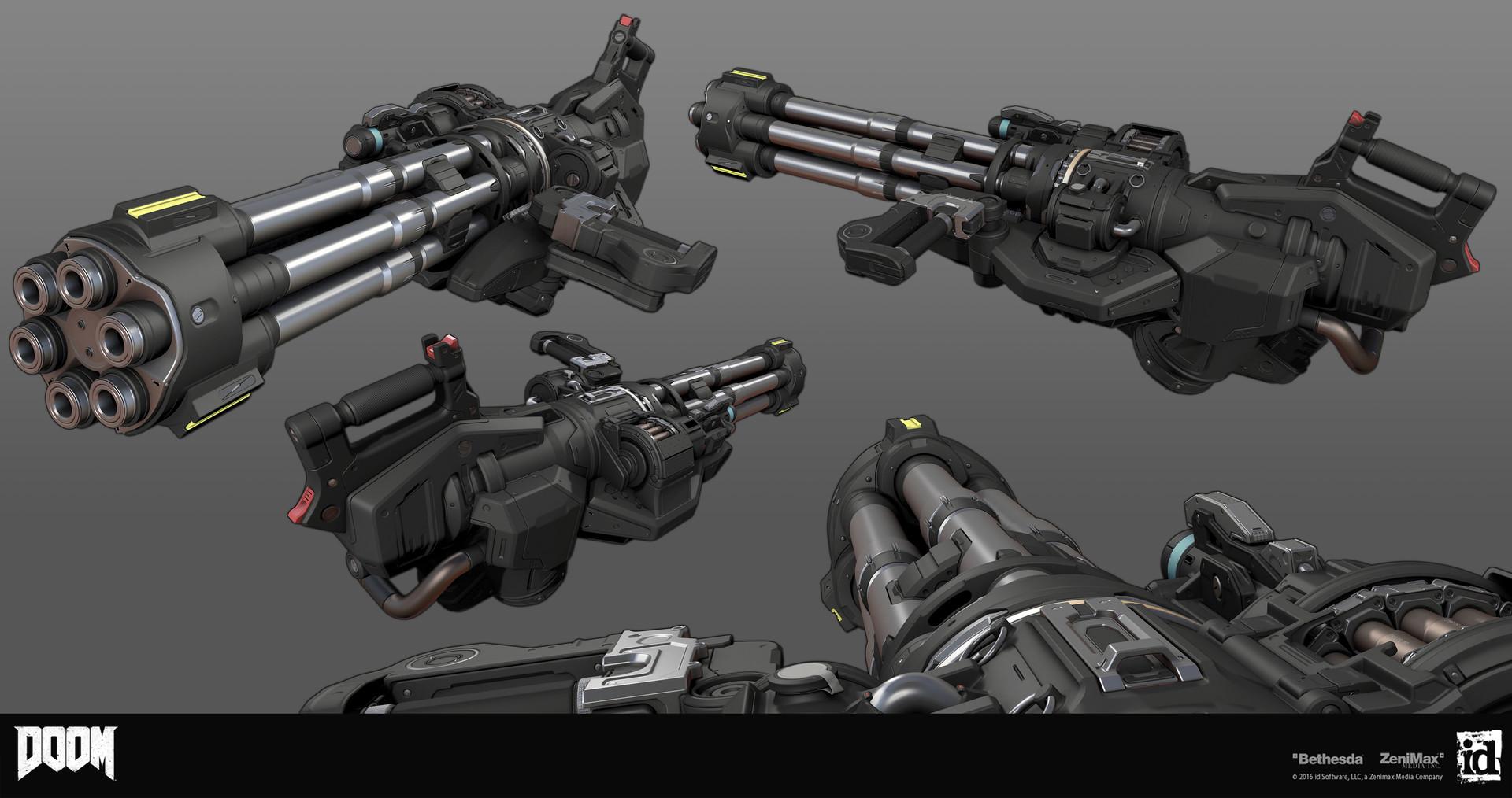Artstation Doom Chaingun Gregor Kopka