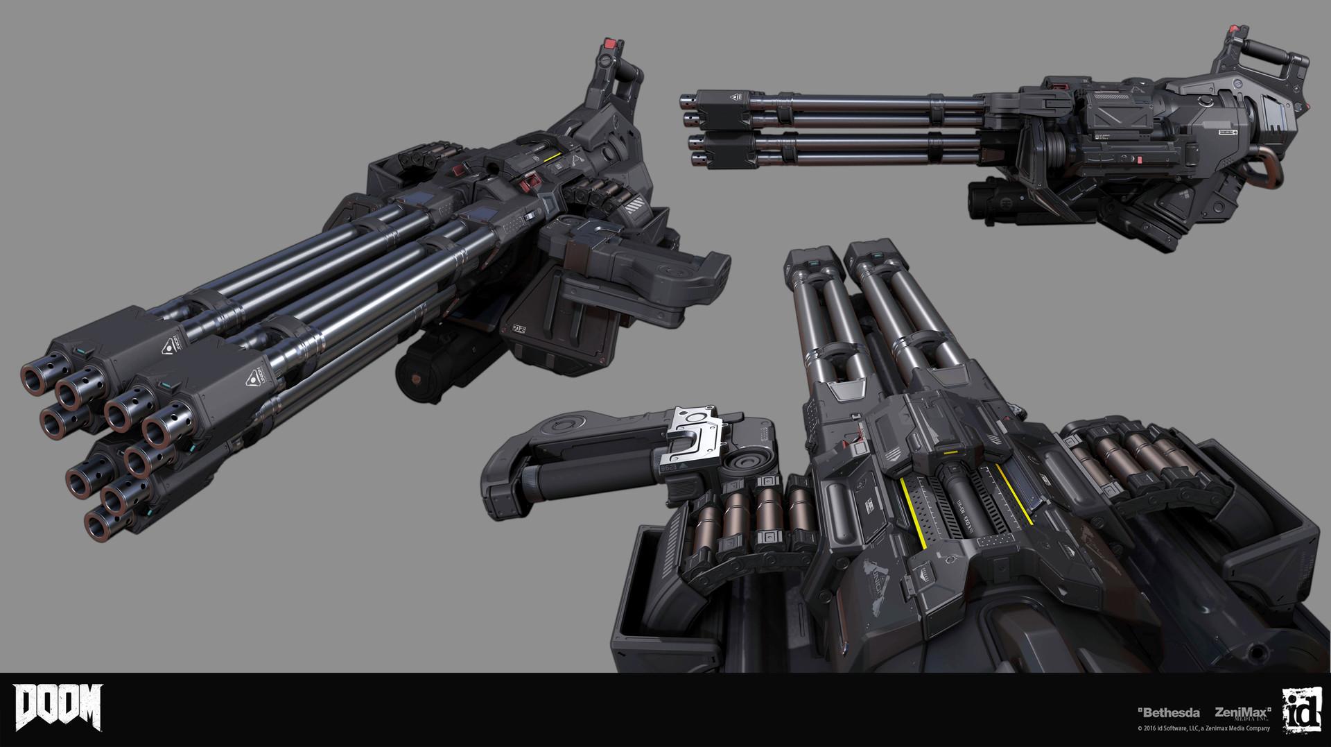 Artstation Doom Chaingunturret Mod Gregor Kopka