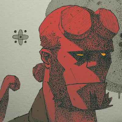 Luis gama hellboy by elgama darw3c2