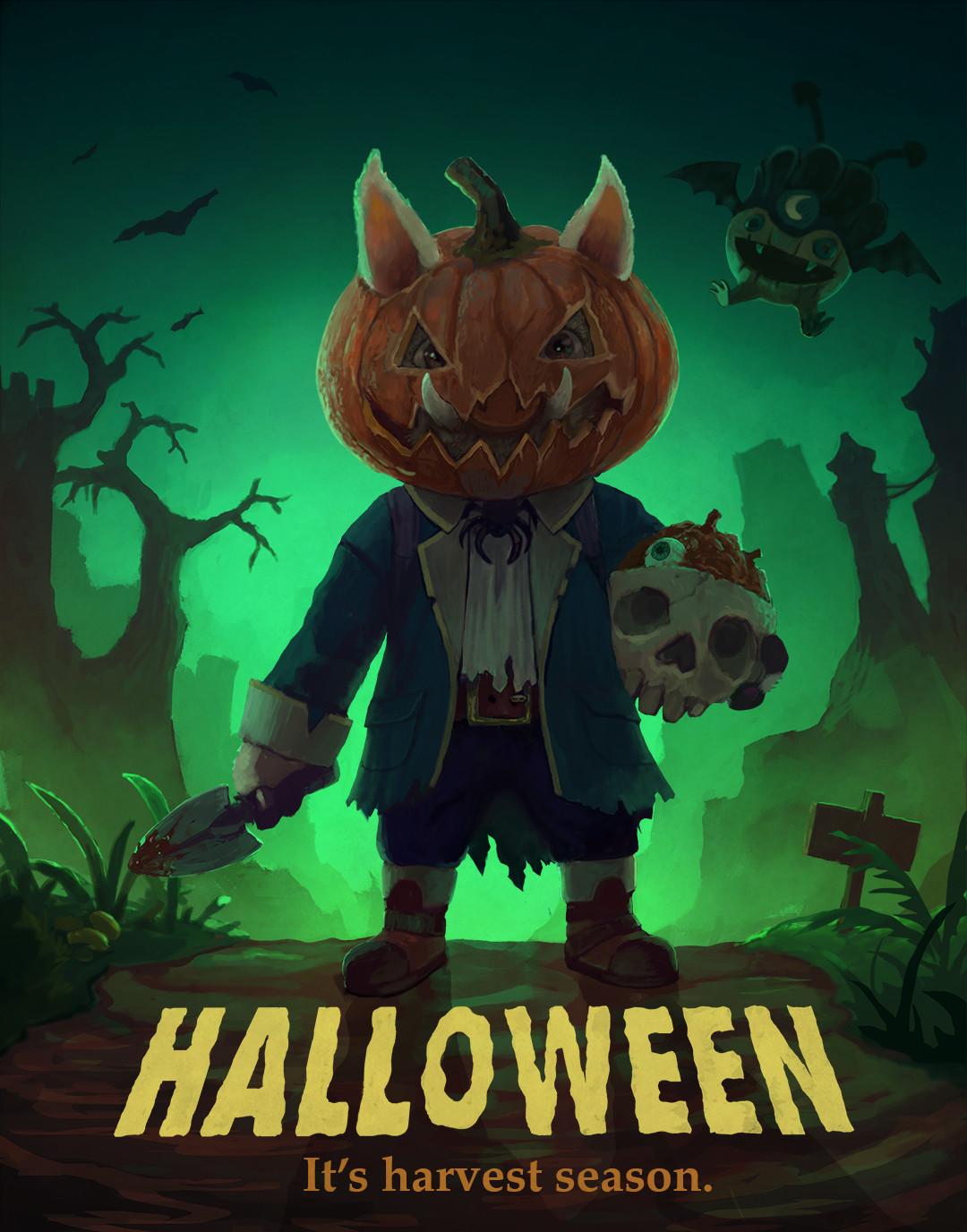Gnart Halloween poster