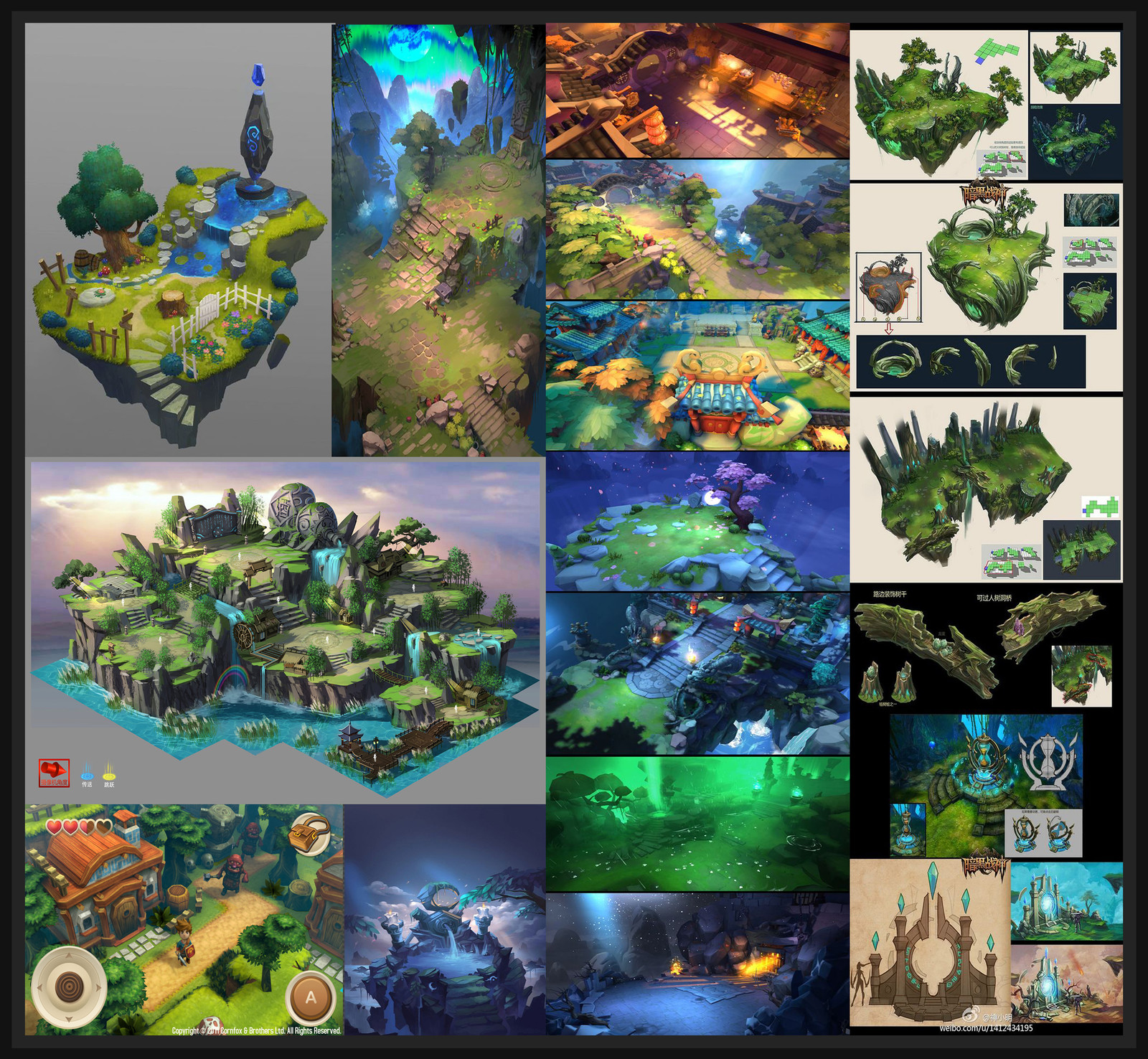 Mood Board made for my environment.