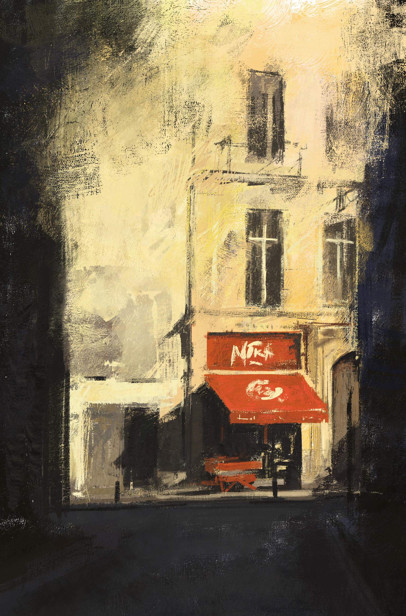 Duncan halleck brussels cafe