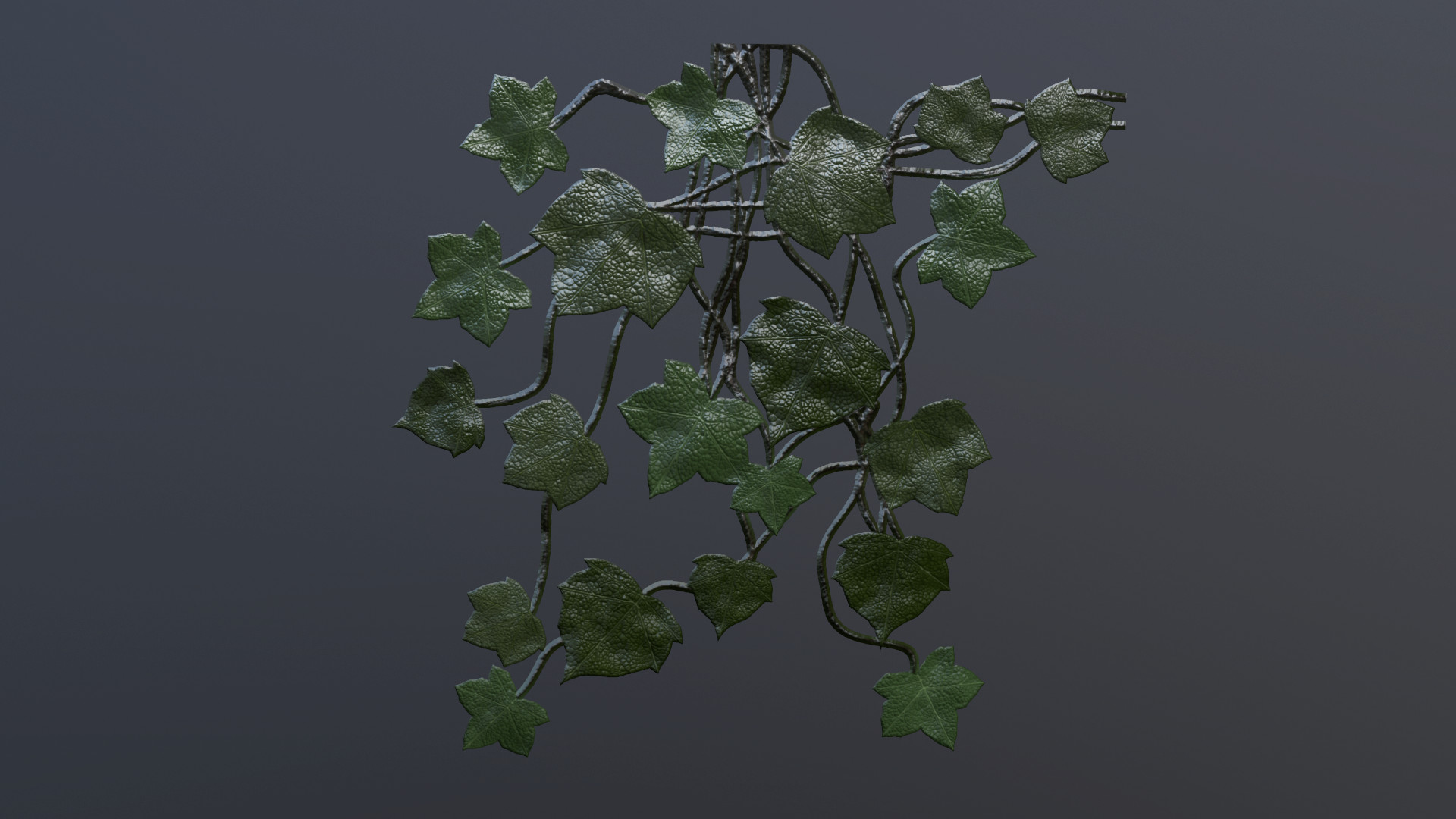 Made entirely in substance designer using shapes to create the leaf shapes and everything. You can see these vines throughout my Arch and Saramad hill environments.