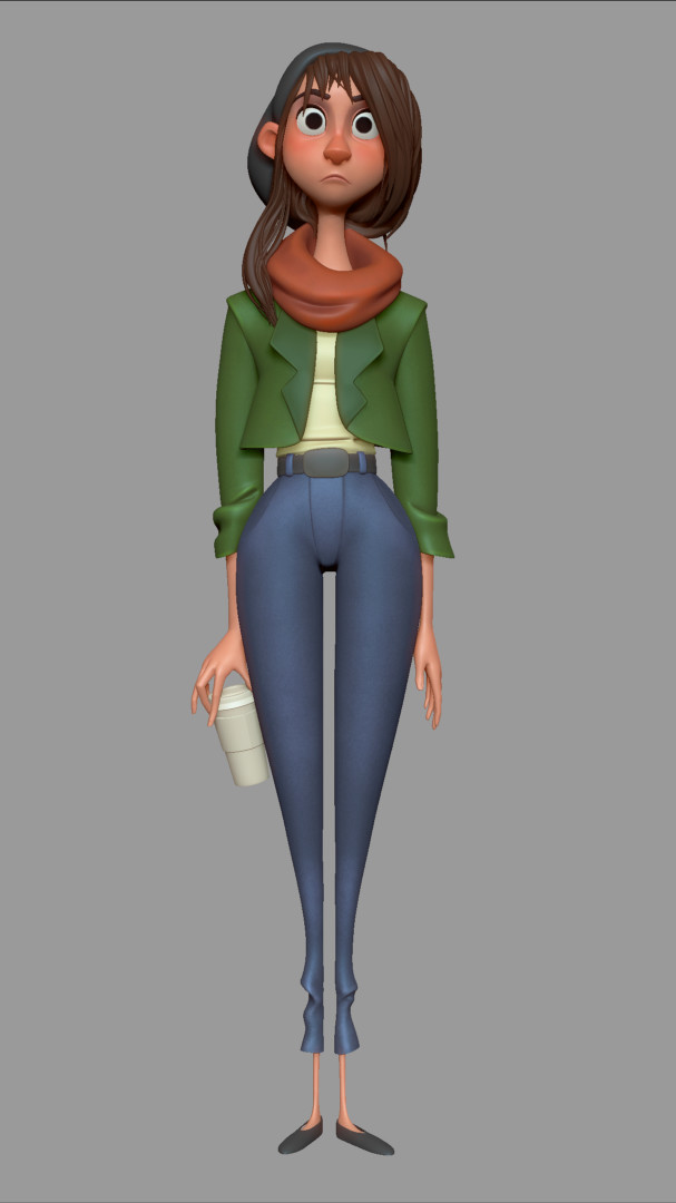 Artstation Coffee Girl Dylan Ekren: simple 3d modeling online