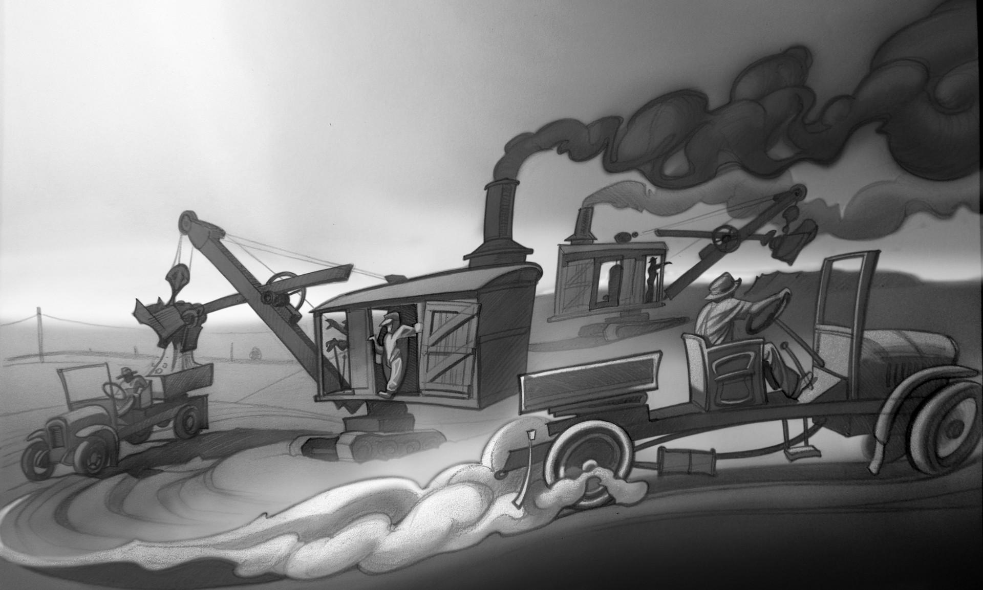 Harald ardeias steam shovel