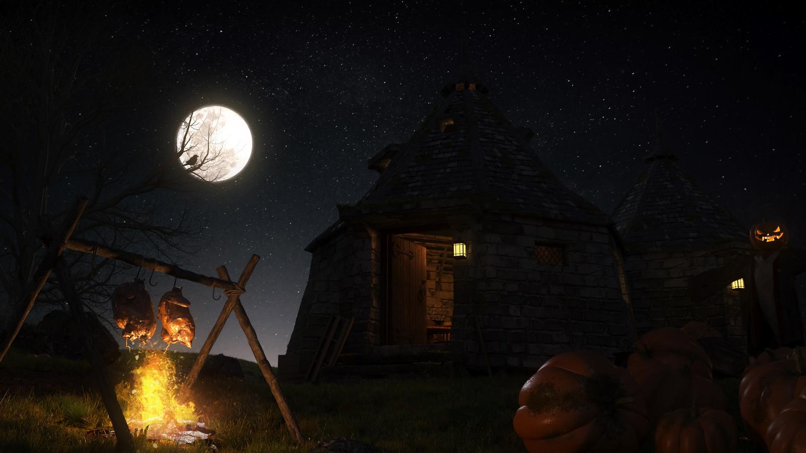 Hagrids Hut Night