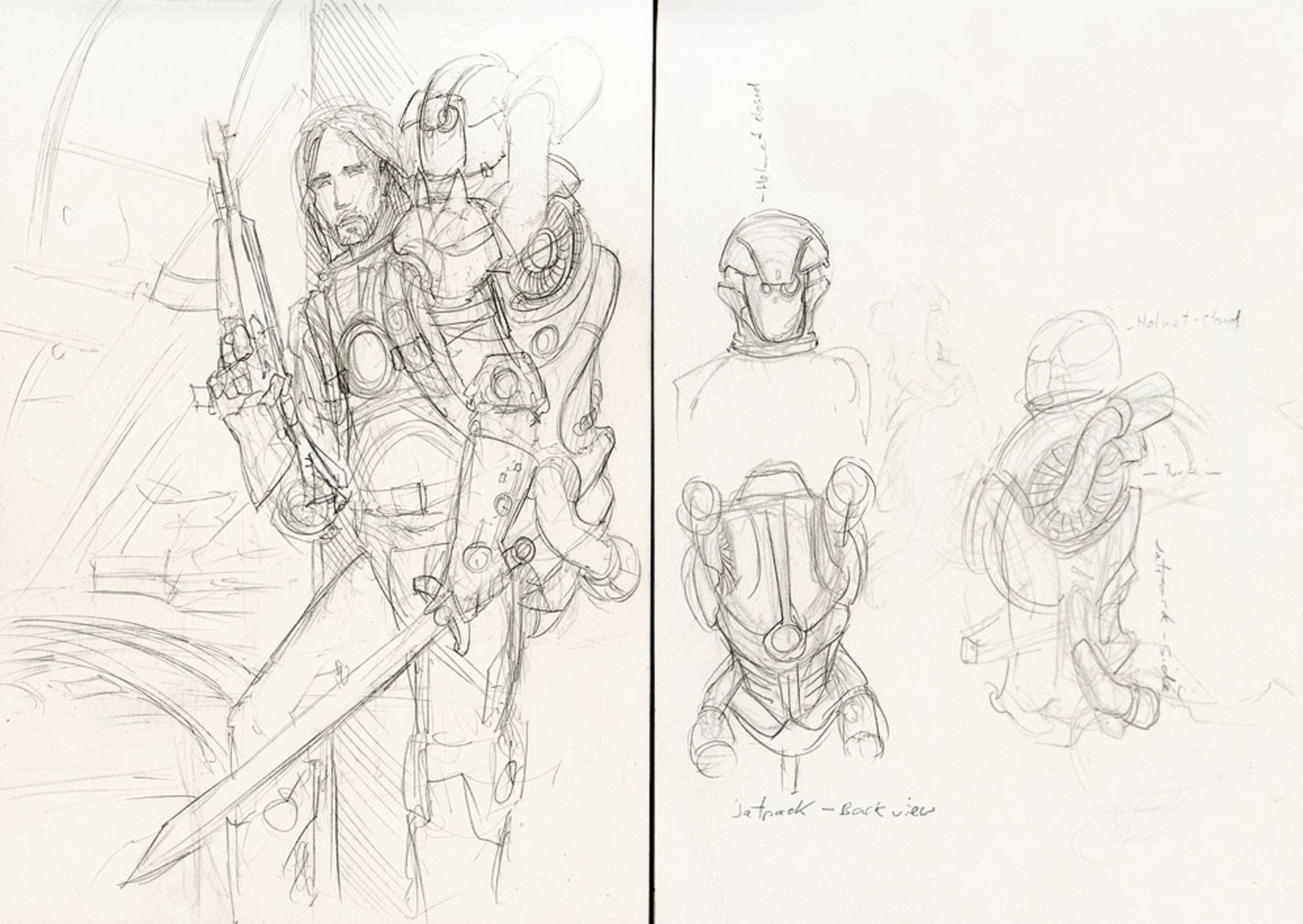 Detailed Sketch and concept for the jetpack