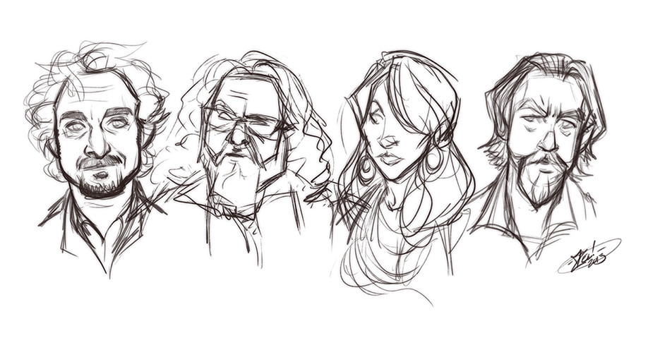 Rough Portrait Sketches