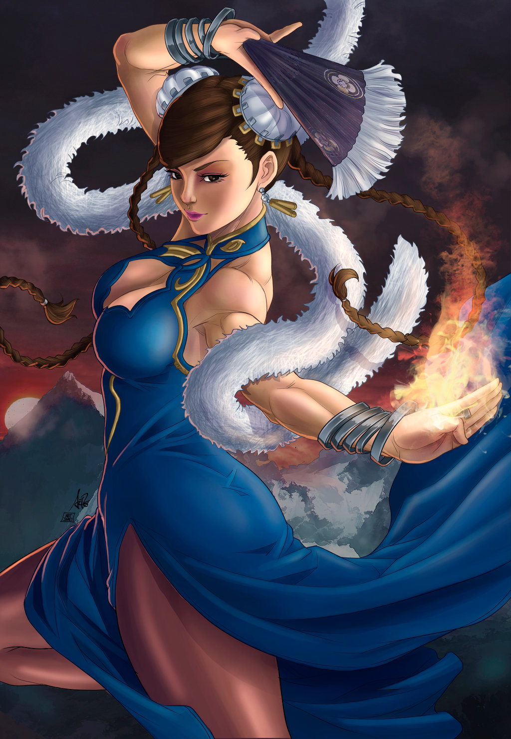 Matt james chun li galmour by snakebitartstudio dazu4ce