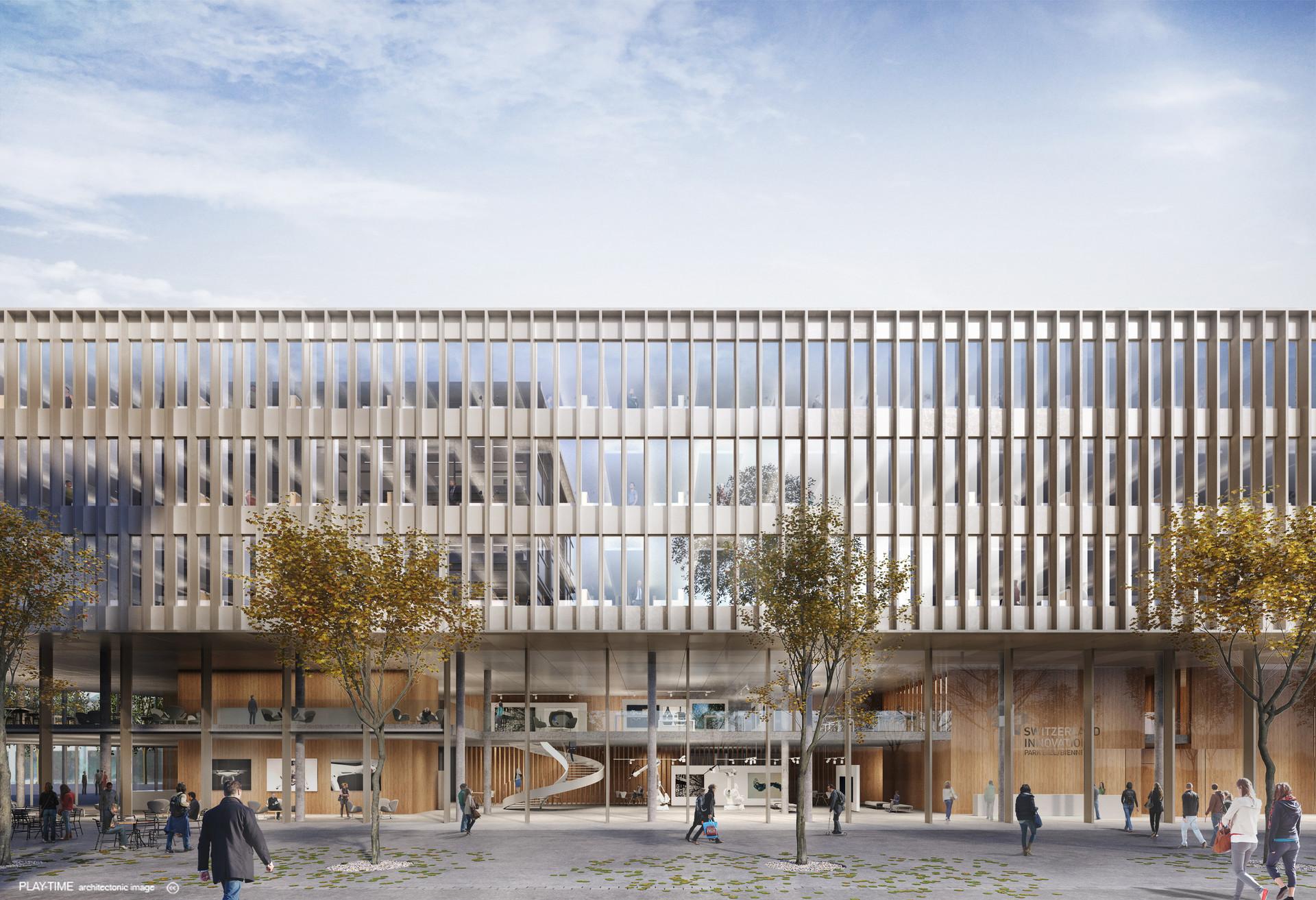 Play time architectonic image gwj architektur innovationspark in biel switzerland