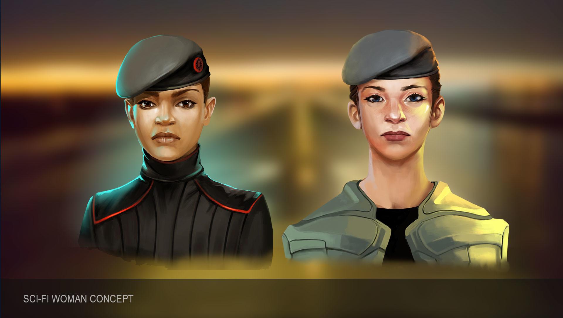 Combo 21 team woman scifi 1