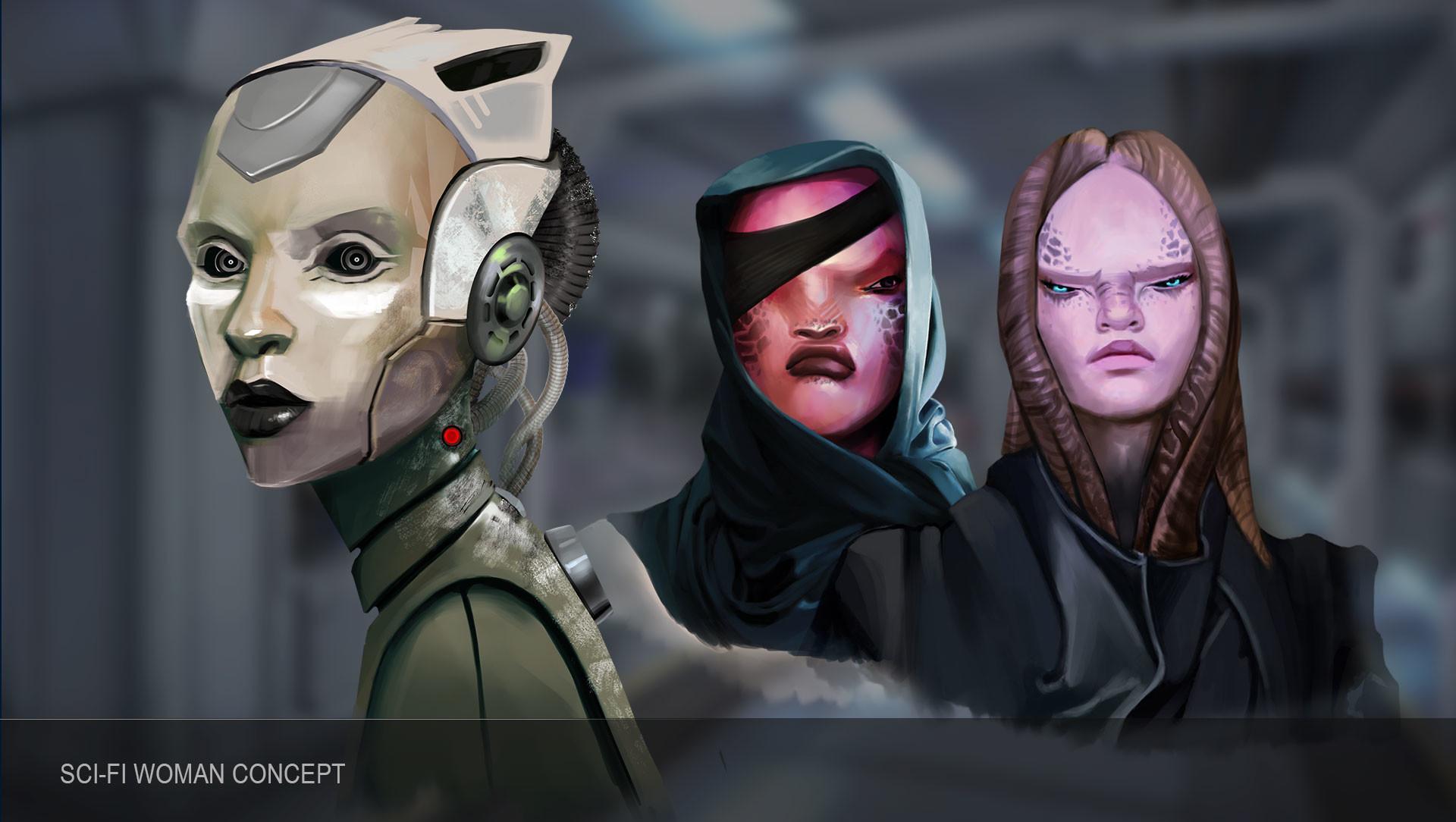 Combo 21 team woman scifi 2