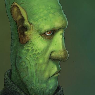 Edin durmisevic green alien color za art station