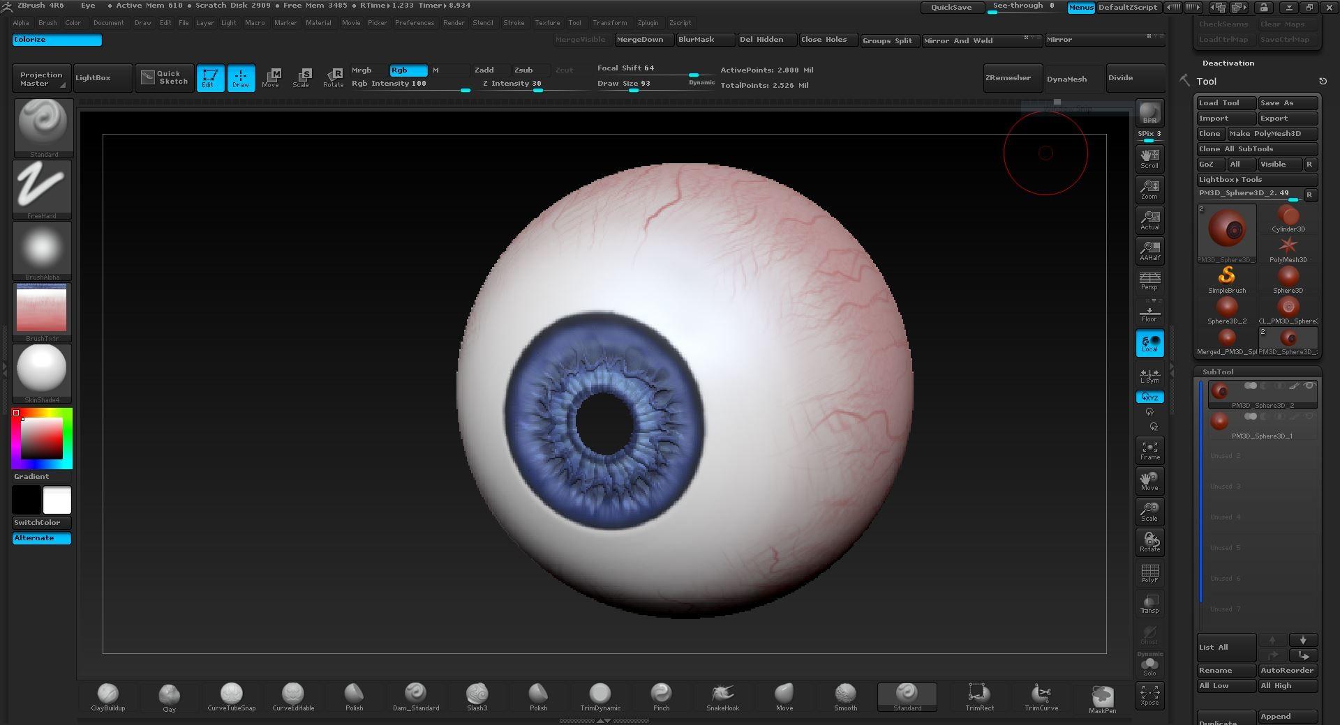 Alonzo emata eye