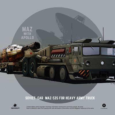 Andrey tkachenko maz 535 svoy truck army 01