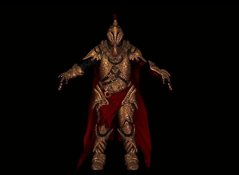 ArtStation - Golden armor 3d model, Pablo Cedeño