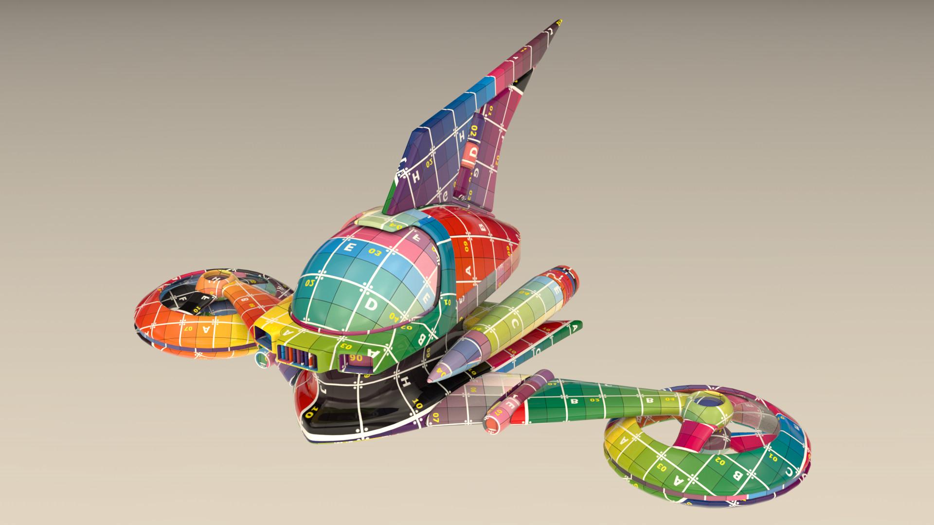 Arcadeous phoenix hover plider solo animation uv