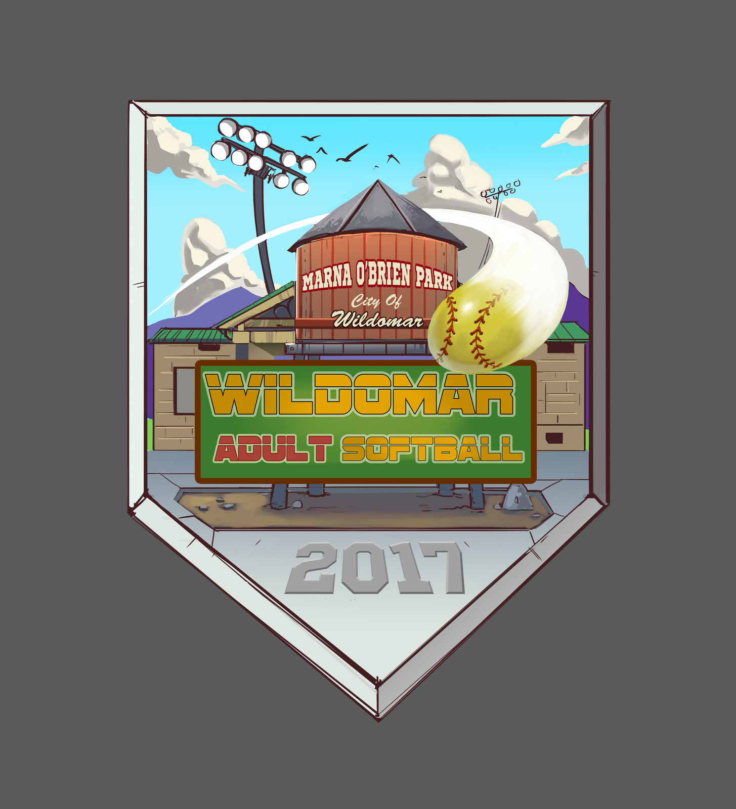 wildomar adult softball logo
