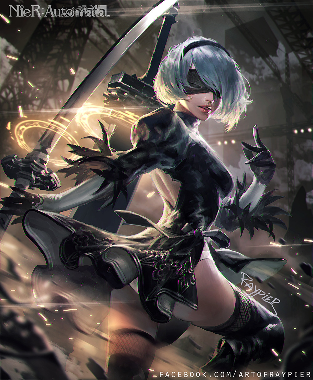 Artstation 2b Nier Automata Fan Art