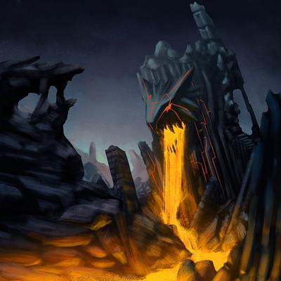 Patrick barron lava landscape