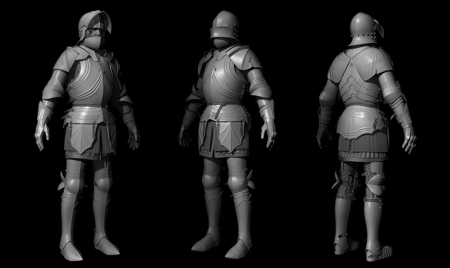 ArtStation - Gothic Armour - CryEngine project, Kamil Bigos