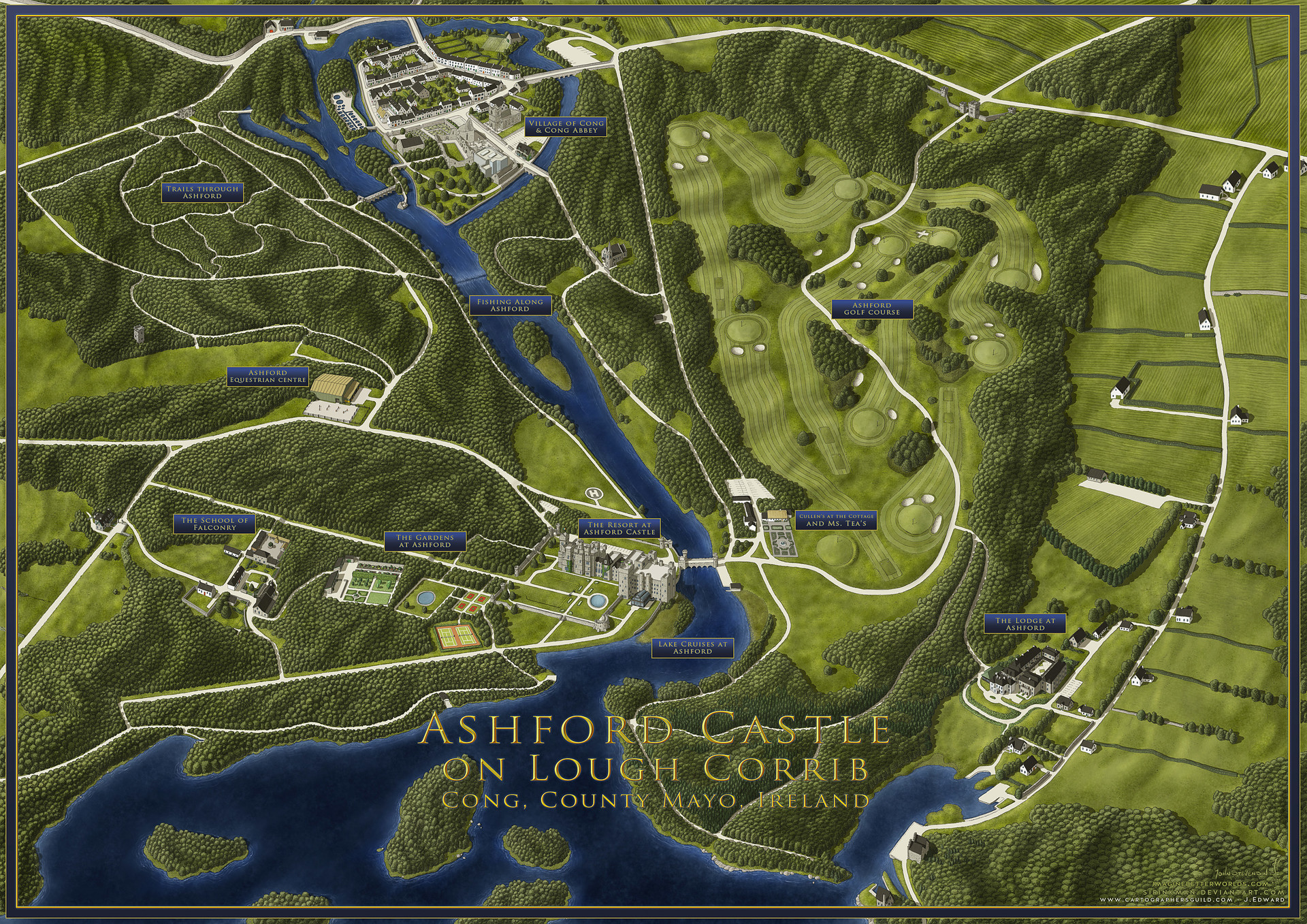 Artstation Ashford Castle Hotel And Resort John Stevenson