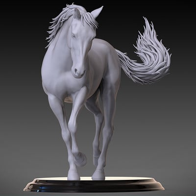 Jia hao horse sculpture comp clay 02